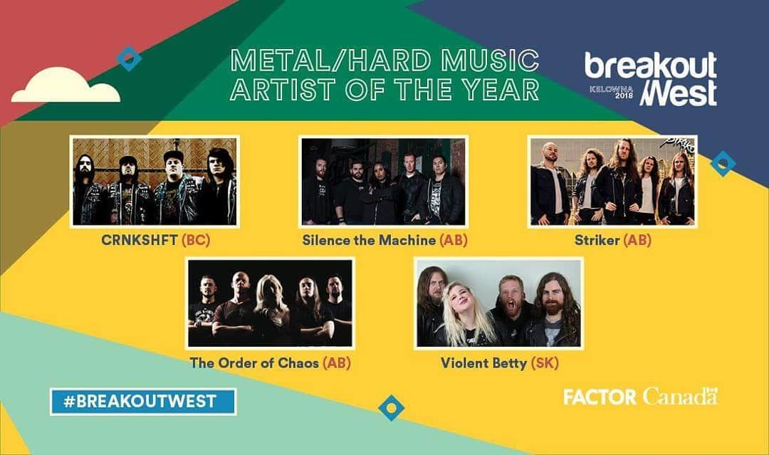 CRNKSHFT HAS BEEN NOMINATED FOR BEST METAL / HARD MUSIC ARTIST OF THE YEAR 2018!